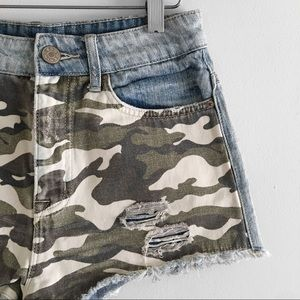 BDG ◉ Camouflage Denim Shorts